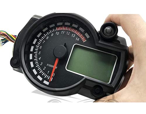 Huashao Fast Pro Motorcycle Code Table Digital Odometer Speedometer Waterproof LCD Modified Instrument: Amazon.co.uk: Sports & Outdoors