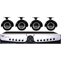 Night Owl Security APOLLO-45 4-Channel H.264 DVR Surveillance Kit with 4 Color Indoor/Outdoor Night Vision Cameras and D1 Recording