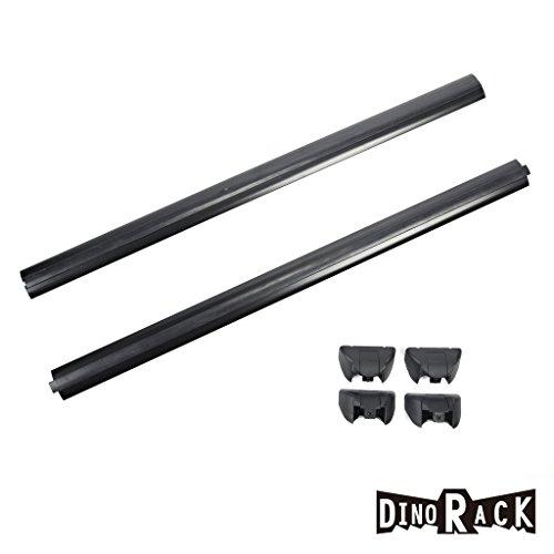 Dinorack 2pcs Black Aircraft Aluminum Aftermarket Roof