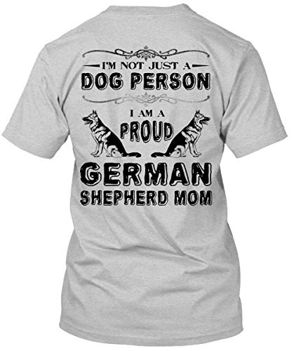 I Am A Proud German Shepherd Mom T Shirt, I Love My Dog T Shirt-Unisex (XXXL, Sport Grey) -