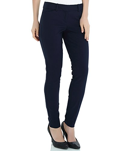 (YTUIEKY Womens Dress Pants, Casual Slim Fit Super Stretch Comfy Skinny Career Straight Fit Trouser Leg Pants Navy)