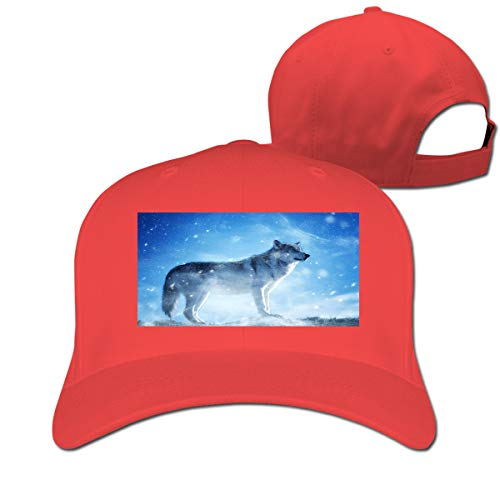 - Alpine Animal Wolf Adjustable Baseball Cap Classic Curved Sunhat Dome Red