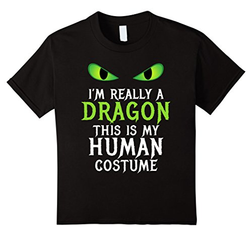 Funny Halloween Costumes For College Boys (Kids Funny Scary Dragon Costume Halloween Shirt for Women Men Boy 12 Black)