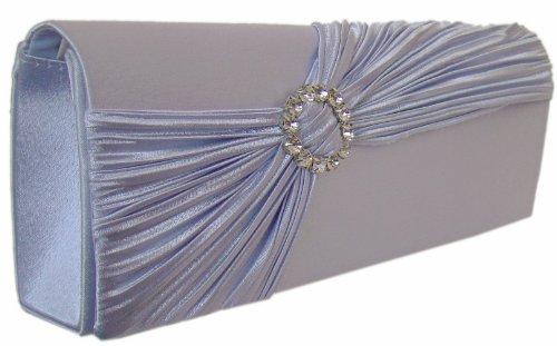 Fashion sac à main de soirée m.strass/bleu clair