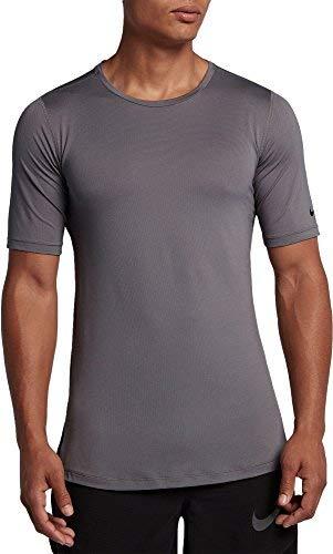 Nike Men's Modern Utility Fitted Training T-Shirt (Gunsmoke/Black, S) - Nike Camp Shirt