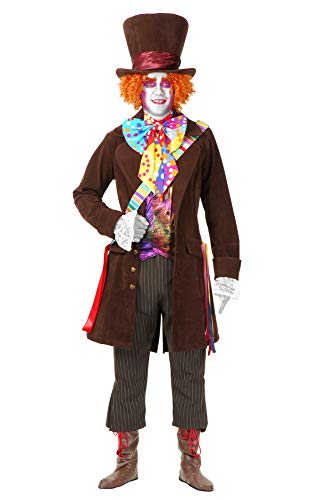 Charades Men's Mad Hatter Jacket and Pants, as as Shown,