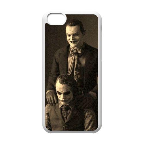 Batman Joker coque iPhone 5C Housse Blanc téléphone portable couverture de cas coque EBDOBCKCO09190