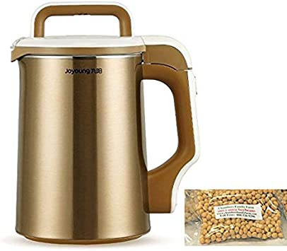 Official BONUS PACK Joyoung DJ13U-D81SG Easy-Clean Automatic Hot Soy Milk Maker with FREE Soybean Bonus Pack