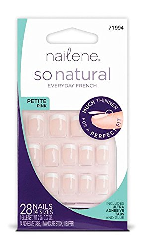 Nailene So Natural Nail, Petite Pink, 28 Count