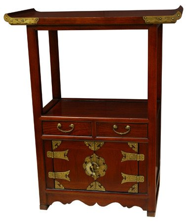 Amazon Com Oriental Furniture Unique End Table Or Extra Tall