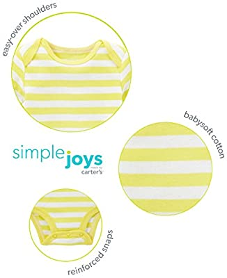 Simple Joys by Carter's Baby 5-Pack Long-Sleeve Bodysuit by Simple Joys by Carter's that we recomend personally.