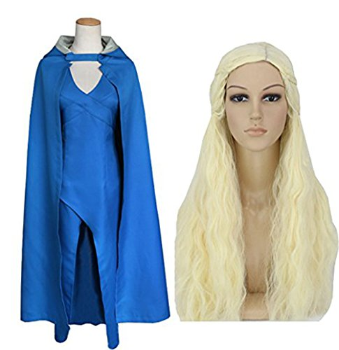 Skyrim Costumes Halloween (Annymall Women's Dress with Cloak, Cosplay Costume Top Design for Game of Thrones , Targaryen , Halloween , Masquerade)