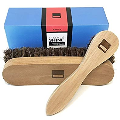 Amazon.com: Premium limpiabotas de crin cepillo para polvo y ...