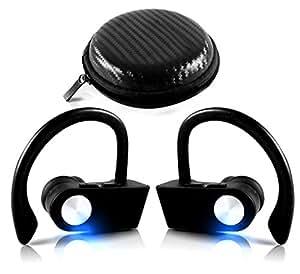 True Wireless Earbuds Bluetooth Truly Sports Headphones Mic TWS Earphones, IPX7 Waterproof Sweatproof, Noise Cancelling