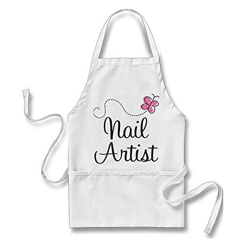 Goodaily Funny Apron Cute Pink Butterfly Nail Artist for sale  Delivered anywhere in USA