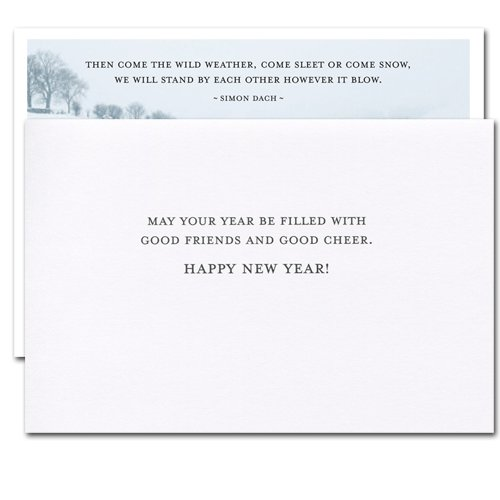 Sleet or Snow: New Year Holiday Cards - box of 10 cards & envelopes Photo #2