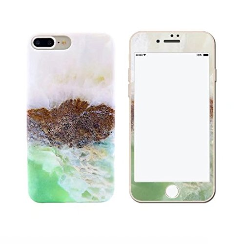 iPhone 6S Marble Phone Case,Unique Marble Design With Tempered Color Film Anti-Scratch Slim Anti-Finger Soft Rubber Case For iPhone 6/6S 4.7 - Colour No2