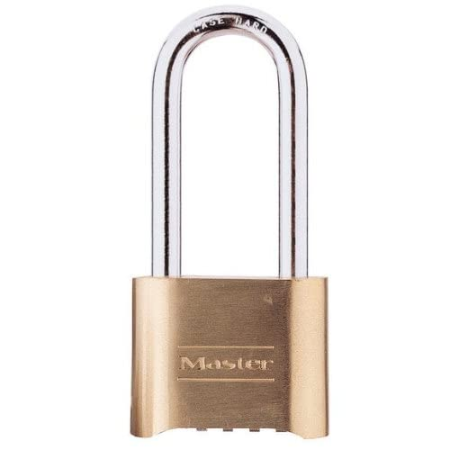 "2 Pack Master Lock 175DLH 2"" Wide Re-Settable Combination Padlock Hardened with 2-1/4"" Shackle Height"