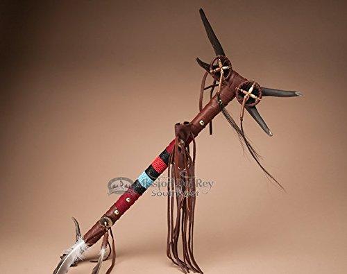 Pueblo Indian Antler Top Medicine Stick 23.5