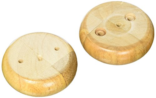 "MJL Furniture Designs Small Round Traditional Style Bun Wooden Replacement Furniture Leg (Set of 4), Tan Finish, 3"" x 3"" x 1"""