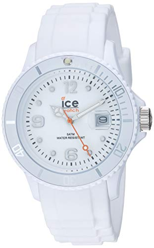 Ice-Watch Unisex SI.WE.U.S.09 Sili Collection White Plastic and Silicone Watch (Watch Ice)