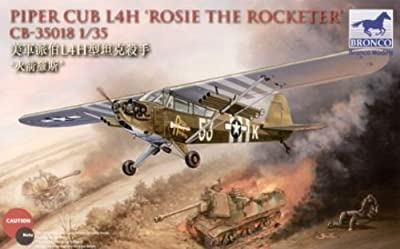 Bronco Models 35018 1/35 WWII Piper Cub L4H Rosie/Rocketeer Aircraft