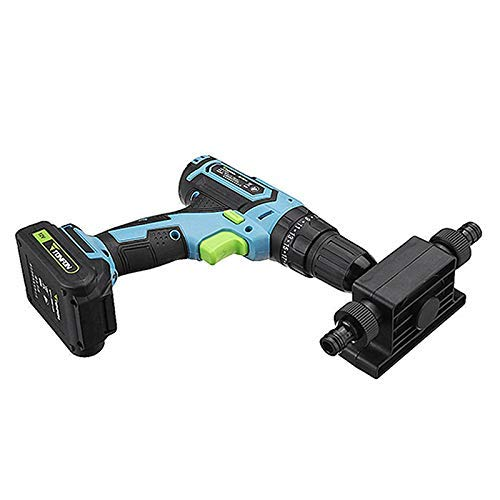 Giftprod Portable Pump Mini Electric Drill Drives Large Flow Pump Electric Drill Powered Water Pump Used for Home, Outdoor Garden, 8mm Round Shank, Portable, Convenient Installation (Used Water Pump)