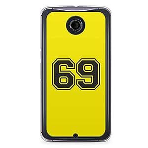 69 Nexus 6 Transparent Edge Case - Numbers Collection
