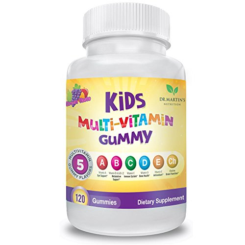 Multivitamin Gummy for Kids – 120 gummies | Vitamins A, B, C, D, E | Daily Dietary Supplements for Eye, Metabolism, Immune System, Bones, Antioxidant and Brain Function Support