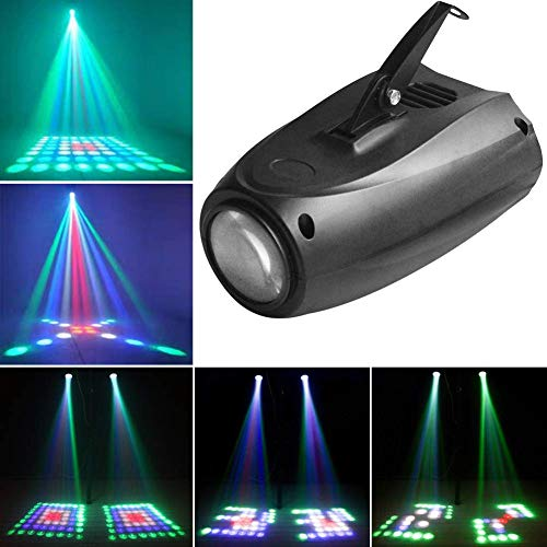 64 LED Pattern Stage Lights U`King RGMW Moonflower Light by Sound Activated Auto Projector for DJ LightingWedding Party Dance Club Music Show