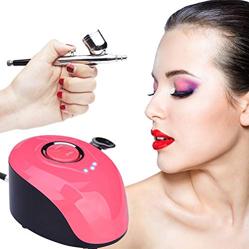 VOKPRO Airbrush Kit - 3 Modes Mini Airbrush Compressor Kit - ¼ oz Professional Paint Airbrush Kit with Mini Air Compressor for Nail Paint Tattoo Cake Decorating