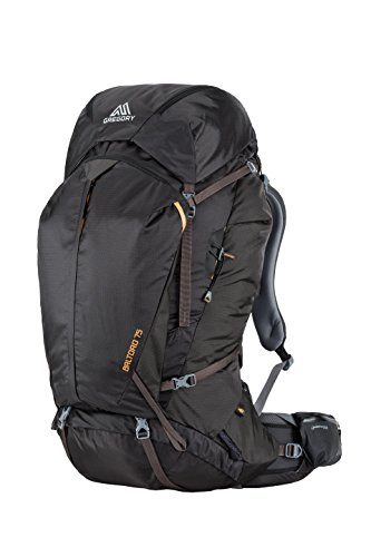 Gregory Mountain Products Baltoro 75 Liter Men's Backpack, Shadow Black, Small