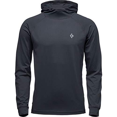 Black Diamond Alpenglow Long Sleeve Hoodie - Men's, Black, Large, AP7520200002LRG1