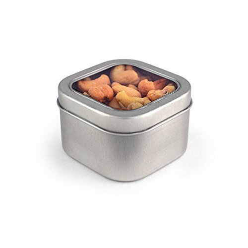 Cashews, Roasted & Salted, Square Window Medium Tin 48ct/4.7oz by In-Room Plus, Inc.