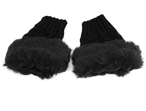 同意鎮痛剤同意uxcell 指なし 手袋 グローブ ファッション 裏起毛 スマホ対応 冬 フィンガーレス 女性 ペア