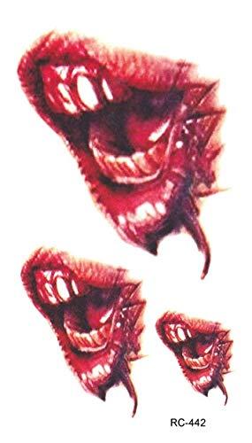 Tatuaje máscara de monstruo partido horrible horror zombi ...