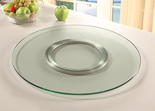 Chintaly Imports Round Spinning Tray, 24-Inch, Clear - Dining Room Table Lazy Susan