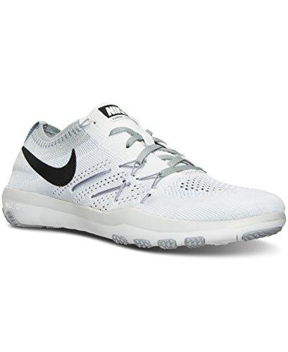 Nike Kvinder Gratis Tr Fokus Flyknit - Hvid / Grå - Størrelse 5 dwV4eZ4