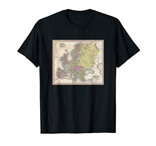Antique Map of Europe 1850 T-Shirt Cartography European Tee