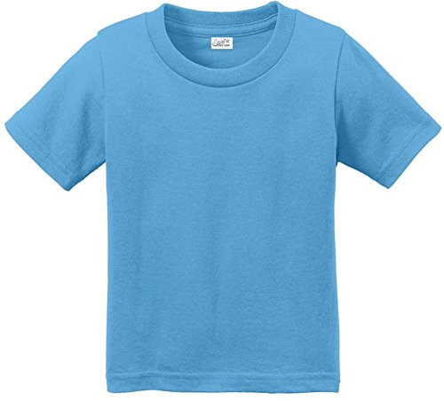 - Joe's USA tm Toddler Tees Soft and Cozy Cotton T-Shirt Size-3T,Aquatic Blue
