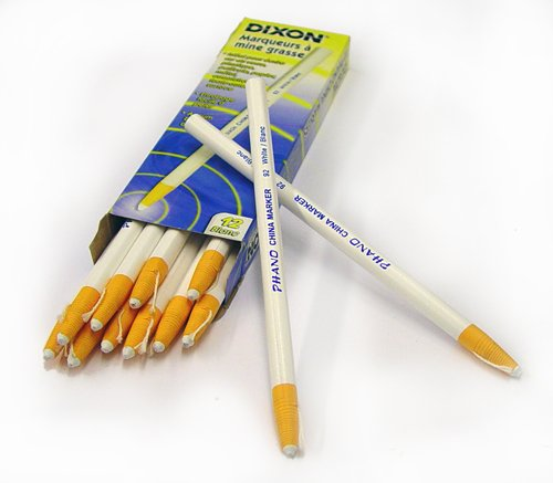 Dixon 00092 China Markers, White, 12-Pack