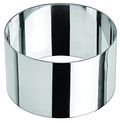 """Winco SPM-31R, 3 x 1.75"""" Round Culinary Pastry Mold, Stainless Steel Pastry Ring"""