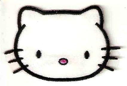 amazon com dear daniel hello kitty head no bow black outline