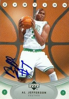 Autograph Warehouse 86993 Al Jefferson Autographed Basketball Card Boston Celtics 2006 Upper Deck Ovation No .86