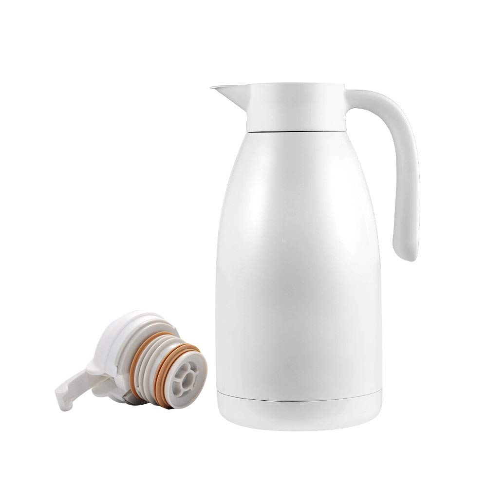 Jaxonn Home Insulation Pot Household - Kitchen Kettle/Thermos Stainless Steel Kettle - 2L Large Capacity Thermos (Color : White, Size : 2000ml) by Jaxonn Home