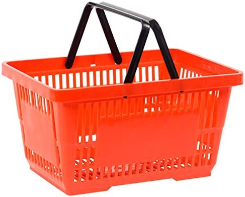 Good L GL141RB-BIG Red Shopping Basket with Rack - Pack of 14