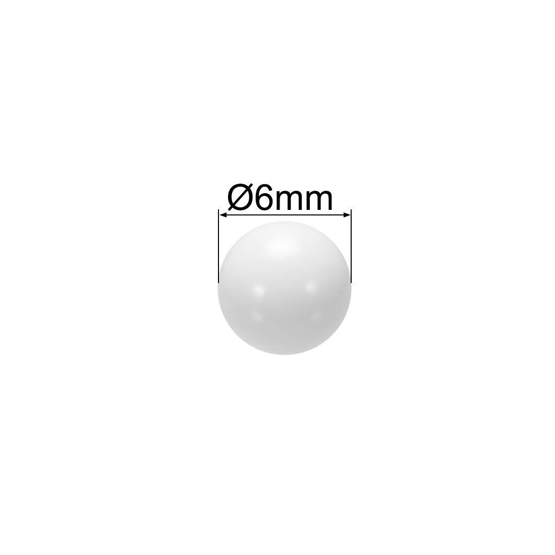 sourcing map 4.5mm POM Coin Ring Making Balls Plastic Bearing Ball 100pcs