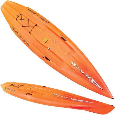 Ocean Kayak Nalu Hybrid Stand-Up-Paddleboard Sit-On-Top Kayak (11-Feet / Sunrise), Outdoor Stuffs