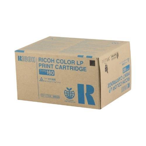 Ricoh 888445 OEM Toner - Gestetner C7528 Ricoh Aficio CL7200 7300 Cyan Toner (10000 Yield) (Type 160) OEM