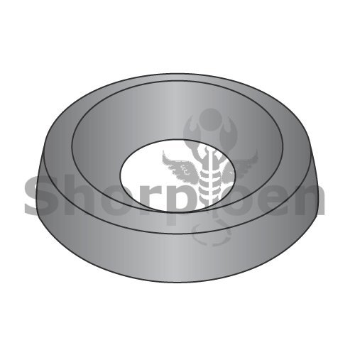 Countersunk Finishing Washer Black Zinc #6 BC-06WCBZ (Box of 10000) weight 7.75 Lbs